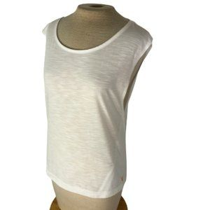 Lucy Active Knit Tank Top White S Small